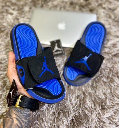 chanclas jordan azules
