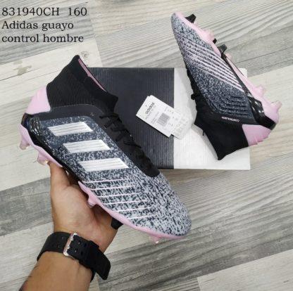 Adidas guayos control hombre zebra rosado