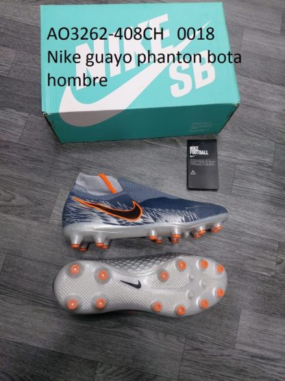 guayos ghost phanton bota gris gris naranja