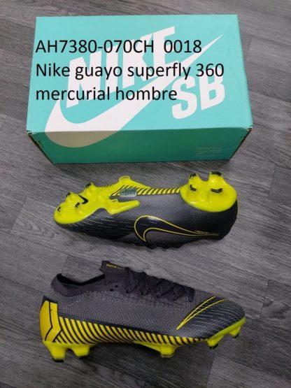 guayos nike 360 superfly mercurial hombre gris amarillo