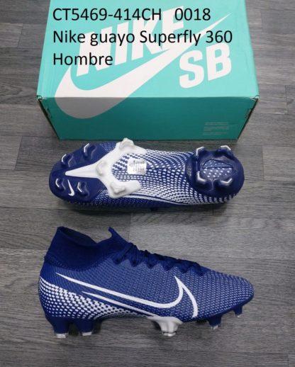 guayos nike superfly 360 azul hombre