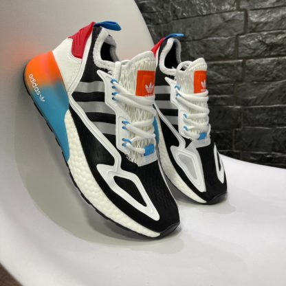 adidas zx 2k blanca naranja